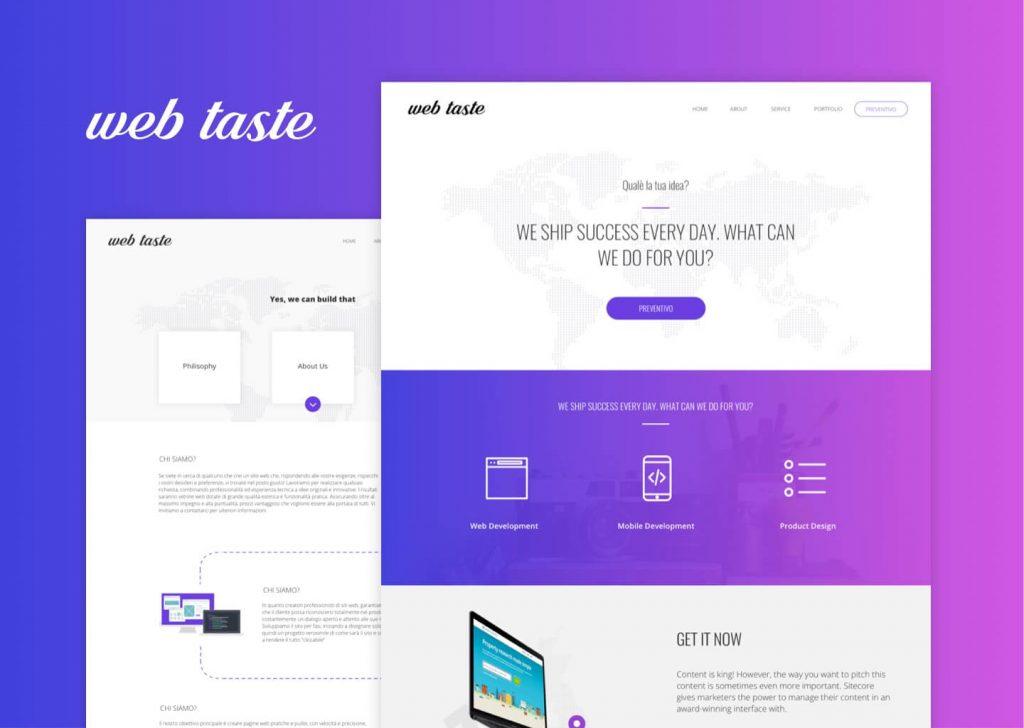 Web Taste siti e app